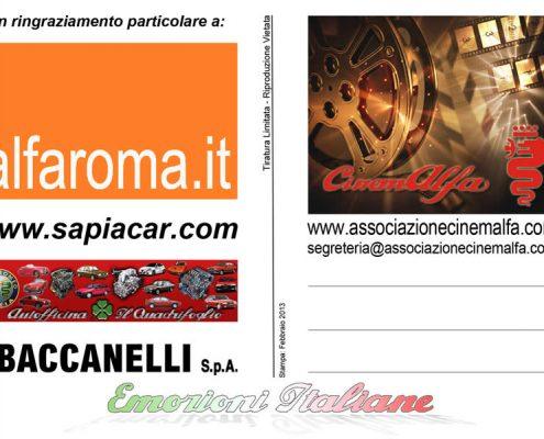 emozioni italiane cartoline cinemalfa associazione alfisti alfa romeo cinema italia
