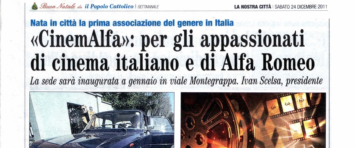 cinemalfa associazione alfisti alfa romeo cinema movie videoclip film