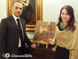 litografia arte anoica arianna greco alfa romeo ama e cambia il mondo cinemalfa alfisti cinema italia