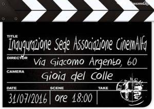 Inaugurazione Sede Sud CinemAlfa 31 Luglio 2016 Gioia del Colle (BA)