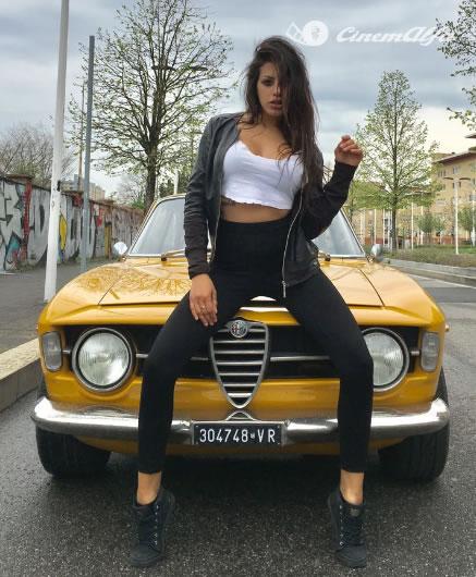 luca desirio alfa romeo GT 1300 Junior giallo ocra 1968 cinemalfa 2017 associazione cinemalfa alfa romeo alfisti italia